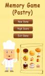 Memory Game Pastry - Free screenshot 1/3