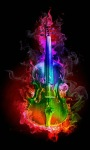 Colorful Fire Guitar Live Wallpaper screenshot 1/3