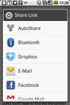Auto Android Share screenshot 2/2