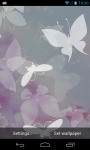 White Butterfly Live Wallpaper free screenshot 5/6