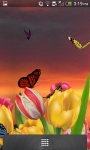 3D Butterfly Garden Wallpaper screenshot 1/5
