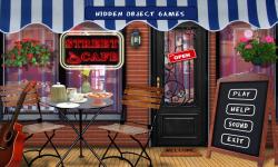 Free Hidden Object Games - Street Cafe screenshot 1/4