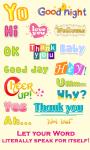 WordArt Chat Sticker F Free screenshot 2/4