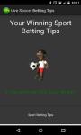 Live Soccer Betting Tips screenshot 1/2