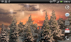 Snowfall3D Live Wallpaper screenshot 3/4