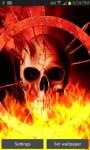 Flaming Fire Skull LWP free screenshot 2/3