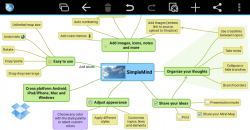 SimpleMind mind mapping personal screenshot 3/6
