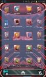 Carmine HD Next Launcher 3D theme screenshot 3/3