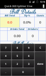 Quick Bill Splitter and Tip Calc screenshot 2/4