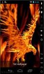 Eagle On Fire Live Wallpaper screenshot 1/2