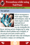 Precautions while using Nail Paint screenshot 3/3