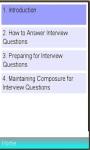 Successful Interview Tip screenshot 1/1