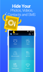 Vault-Hide SMS Pics Videos screenshot 1/6