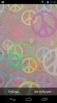 Peace Signs Live Wallpaper screenshot 2/6