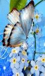 Blue Butterfly Live Wallpape screenshot 2/3
