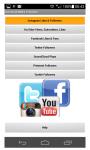 Social Likes and Followers screenshot 1/3