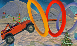 Extreme x-mas car stunt racing screenshot 2/4