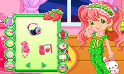 Good Night Strawberry Dress Up Game screenshot 2/3