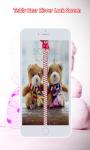 Teddy Bear Zipper Lock Screen screenshot 1/6