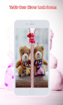 Teddy Bear Zipper Lock Screen screenshot 3/6