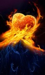 Water Fire Heart Live Wallpaper screenshot 1/3