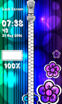 Glow Flower Zipper Lock Screen screenshot 6/6