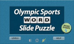 Olympic Sports Word Slide Puzzle Free screenshot 1/3
