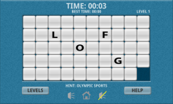 Olympic Sports Word Slide Puzzle Free screenshot 2/3