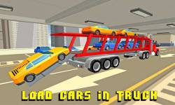 Car Transporter Truck: Blocky screenshot 1/4