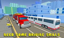 Car Transporter Truck: Blocky screenshot 2/4