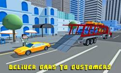Car Transporter Truck: Blocky screenshot 3/4