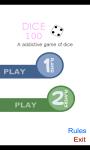 Dice 100 Game screenshot 1/6
