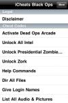 iCheats - Black Ops Edition screenshot 1/1