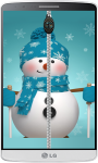 Snowman Zipper Lock Screen HD screenshot 1/4