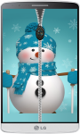 Snowman Zipper Lock Screen HD screenshot 2/4