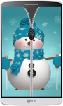 Snowman Zipper Lock Screen HD screenshot 3/4