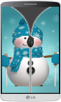Snowman Zipper Lock Screen HD screenshot 4/4