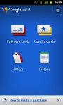 Google Wallet screenshot 1/2