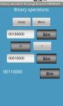 Bitwise binary calculator screenshot 1/2
