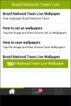 Brazil National Team Live Wallpaper screenshot 2/6