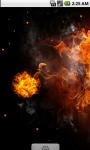 Fire Ball Live Wallpaper screenshot 3/4