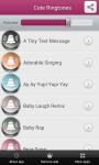 Cute Ringtones App screenshot 2/4