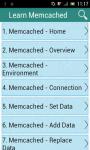 Learn Memcached screenshot 1/3