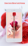 Rose Love Zipper Screen Lock screenshot 1/6