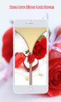 Rose Love Zipper Screen Lock screenshot 5/6