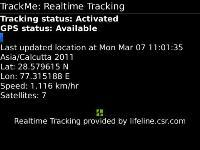 TrackMeBB GPS Tracker and Alert Notification  screenshot 1/1
