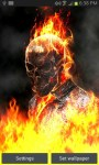 Ghost Rider Fire Flames LWP free screenshot 1/3