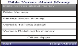 BIBLE VERSES  TALKING ABOUT MONEY  screenshot 1/1