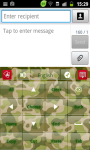 Green Military GO Keyboard screenshot 2/2