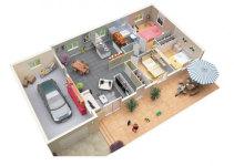 3 Bedroom Apartment/House Plans screenshot 3/6